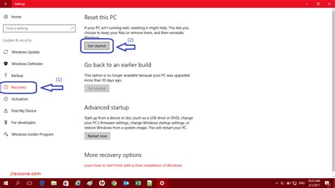 resetting windows back to factory settings windows 10 how to reset windows 10 pc to factory settings