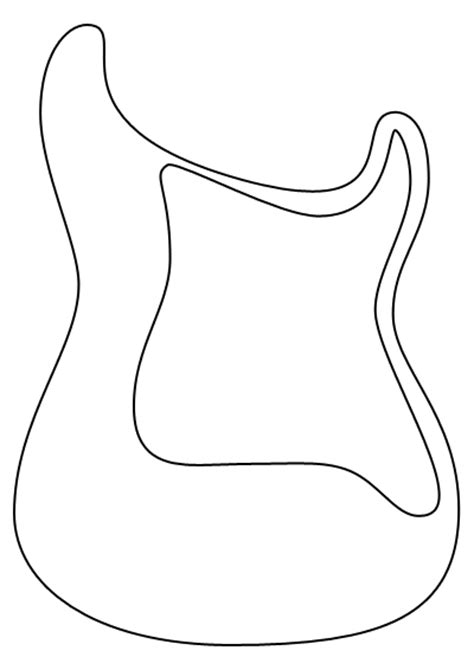 guitar template das guitar shape templates