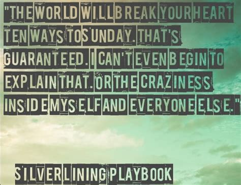 quote  silver lining playbook excelsiorsilver linings pinterest  quotes