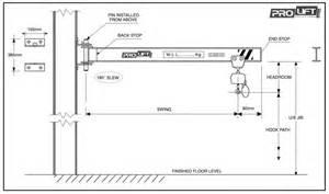Drum Light 250kg X 2000mm Wall Mounted Slewing Jib Crane Prolift