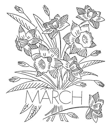 flowers of the month coloring pages pencil of fruit basket coloring pages