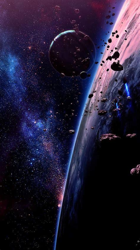 meteor falling  earth  space iphone wallpaper