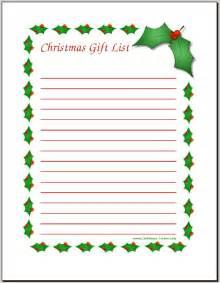 Santa Christmas List Template Free Christmas Wish List Coloring Pages