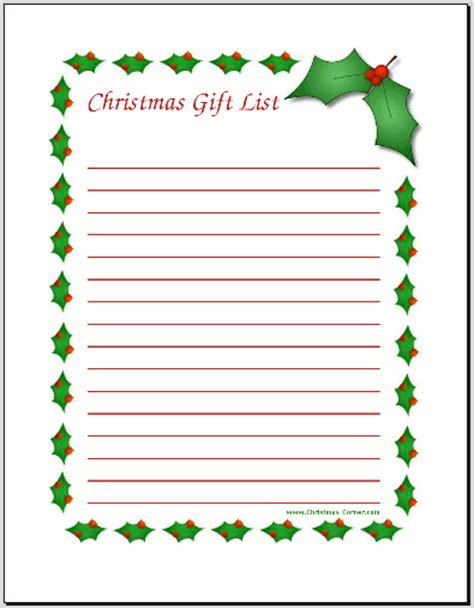 free christmas wish list coloring pages