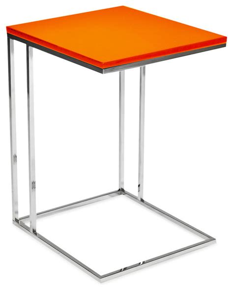 Orange Side Table Wilson Side Table Orange Contemporary Side Tables End Tables By One