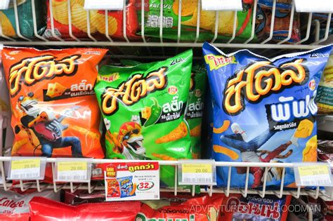 Find In Thailand 47 Strange Chip Flavors In Thai 7 Elevens 187 Greg Goodman Photographic Storytelling