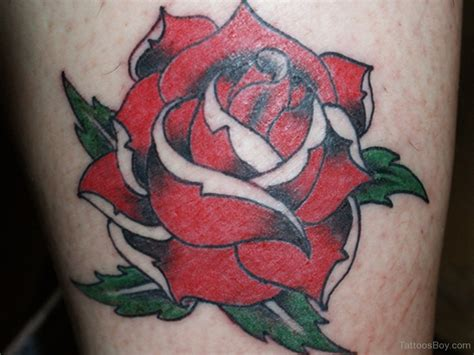 traditional style rose tattoo flower tattoos designs pictures page 8