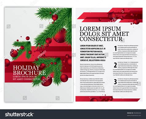 vector business brochure christmas flyer template stock