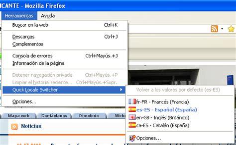cambiar barra superior mac unidad de laboratorios de la eps 187 cambio de idioma en firefox
