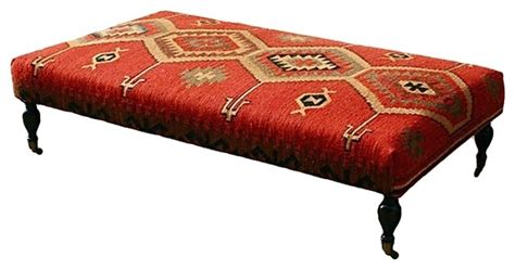 kilim benches and ottomans large kilim stool traditional footstools ottomans