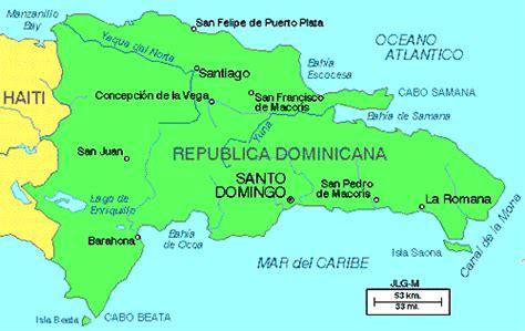 mapa de republica dominicana dominica mapa capital