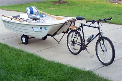 pelican pedal boat dolly tow a boat with a bike