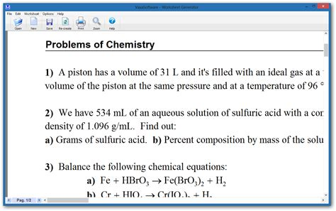 Chemistry Worksheets by Worksheet Generator For Chemistry