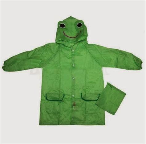 Jk121 Jaket Anak Blue Frog jas hujan anak imut lucu belajar praktis
