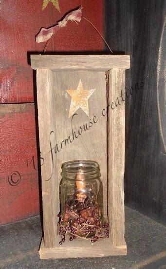 primitive reclaimed barnwood candlebox country home decor