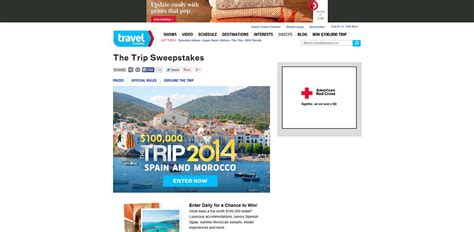 Sweepstakes Trips - travel channel s the trip 2014 sweepstakes