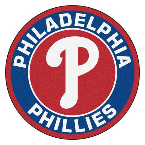 mlb logo rugs philadelphia phillies logo roundel mat 27 quot area rug