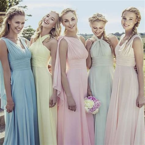 pastel color bridesmaid dresses pastel bridesmaid dresses naf dresses