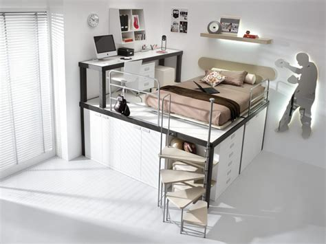 Bunk Bed With Stairs And Desk Single Beige Bunk Beds With Stair And Mac Desk