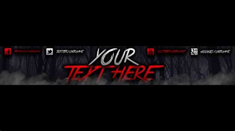 Quot Giveaway Quot Spooky Youtube Banner Template Youtube 2k Banner Template