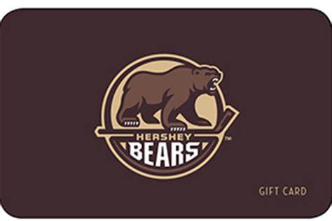 Hershey Park Gift Cards - hershey bears gift card hershey entertainment resorts company online store