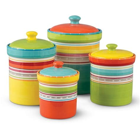 Fiesta Kitchen Canisters these kitchen storage canisters are a fiesta times 4