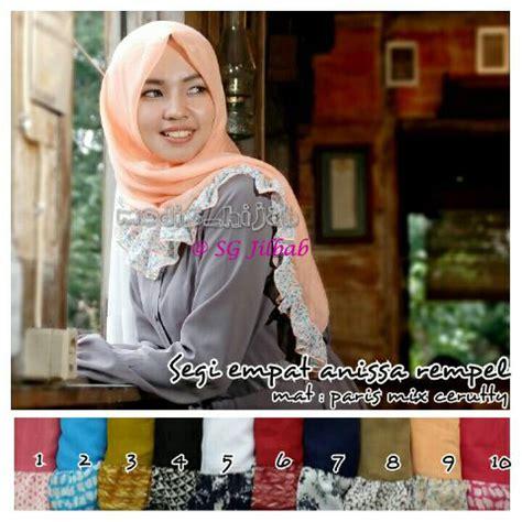Kerudung Jilbab Bergo Rempel Jumbo 0 segi empat anissa rempel sentral grosir jilbab