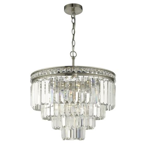 round bathroom light with layered glass pieces nickel waterfall chandelier with cascading layers of