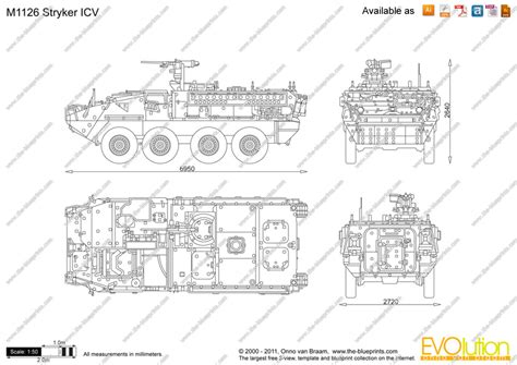 design a blueprint the blueprints vector drawing m1126 stryker icv