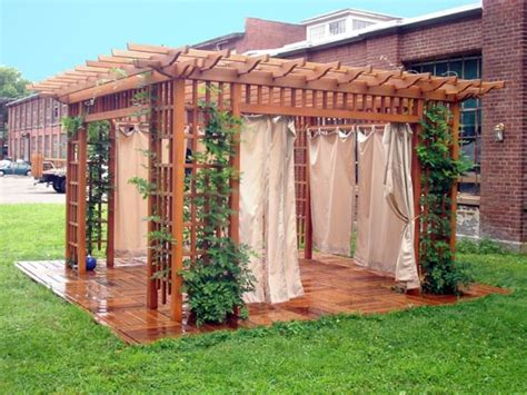 pergola curtain ideas pergola idea trellis and curtains gardening fun