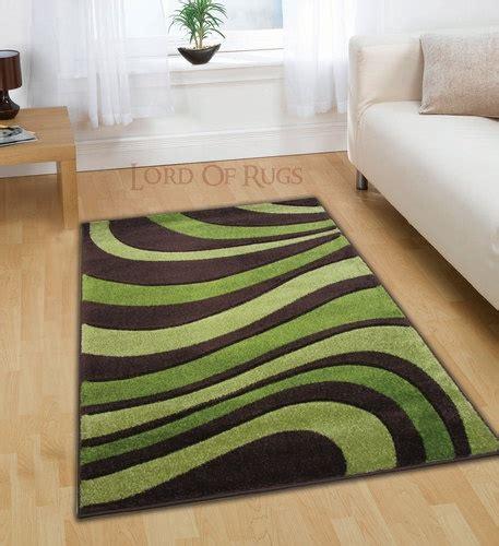 modern large brown green rug in 120x160 4x5 150x210 cm