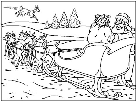 coloring pictures of santa s sleigh christmas sled coloring pages coloringpages1001 com