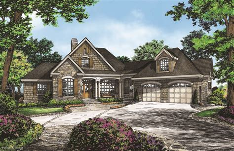 Craftsman House Plans With Basement by Craftsman Walkout Offers Family Friendly Design