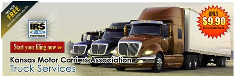 kansas motor carriers association kmca2290 e file irs form 2290 hvut form 2290 2290