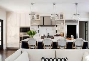 superb Light Pendants Over Kitchen Islands #1: Transitional-Kitchen-Design-TransitionalKitchen-Transitional-kitchen-with-clear-glass-globe-pendants-over-kitchen-island.-TerraCotta-Properties.jpg