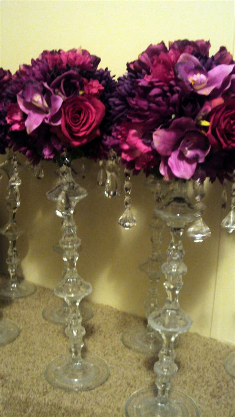Oral And Crystal Centerpieces Weddingbee Cl Ifieds