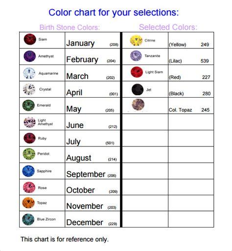 birthstone chart template 8 sle birthstone chart templates sle templates