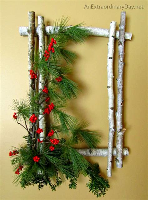 using a birch branch tree for a christmas tree how to create a birch wreath for an extraordinary day
