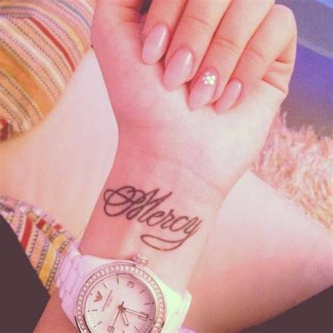 mercy tattoo mercy on my foot god s mercy and grace give me