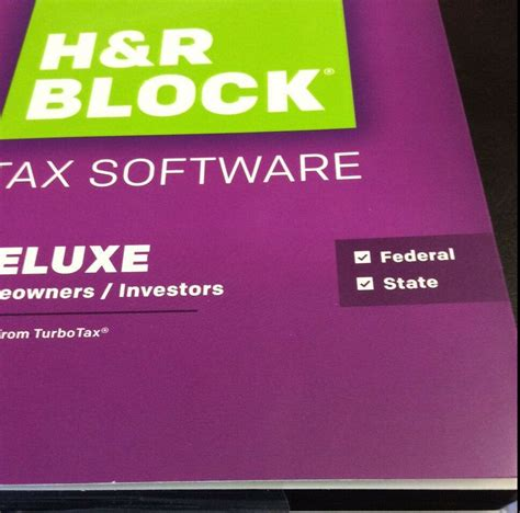 H&R Block Tax Software Deluxe , Federal , State 2015 | eBay H And R Block 2015 Tax Software Deals