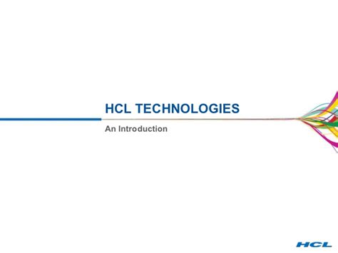 hcl logo usage guidelines hcl technologies hcl corporate presentation april 2011