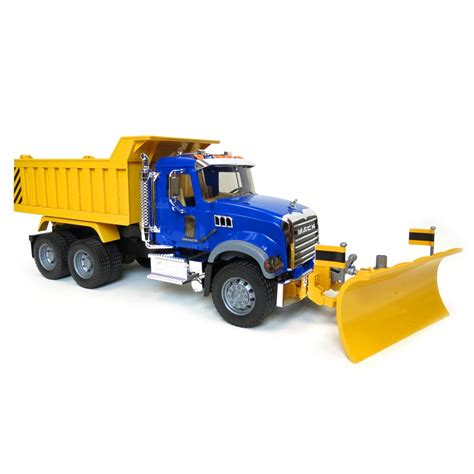 flashing lights for snow plow trucks 1 16th bruder mack granite dump truck with snow plow and
