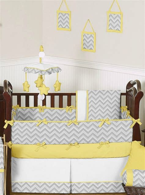 gray and yellow baby bedding yellow gray chevron baby bedding crib set sweet jojo