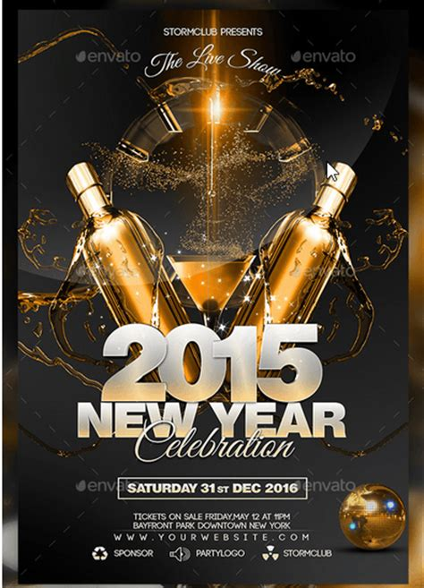 new year poster psd 50 cool new year flyer templates design freebie