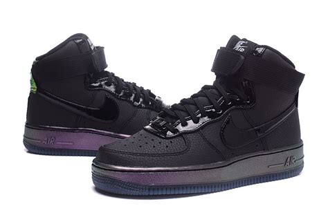 new air one shoes 2017 new nike air 1 af1 high black purple 654440 007