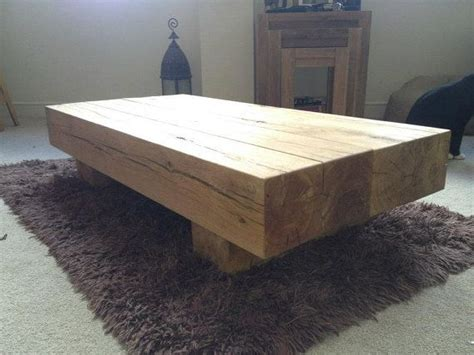 rustic solid oak beam coffee table by rusticoakley on etsy