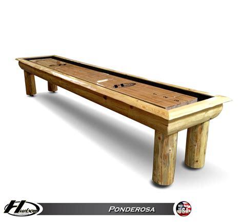 ponderosa pine shuffleboard by hudson