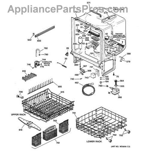 ge dishwasher diagram parts for ge gsd5560g00ss parts appliancepartspros