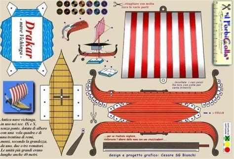 How To Make A Viking Longship Out Of Paper - viking ship paper model by forbicolla barco viking by