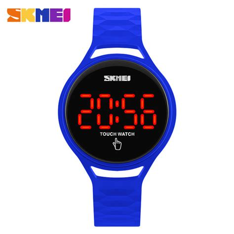 Jam Tangan Led Bulat Touchscreen skmei jam tangan led touch wanita 1230a blue